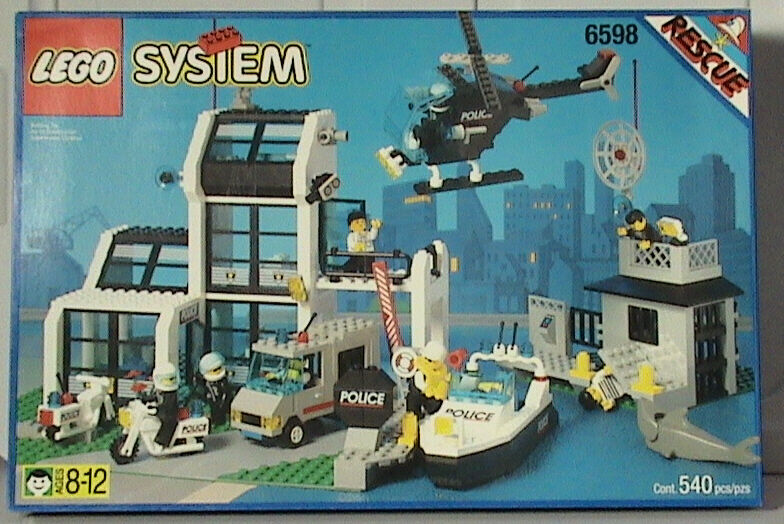 Lego Town Classic Town Town Town POLICE 6598 Metro PD Station New Sealed 921895
