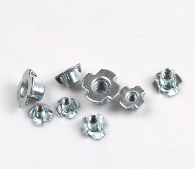 FOUR PRONGED T NUTS M4 M5 M6 M8 M10 TEE NUT
