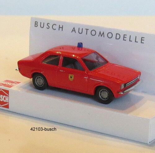 "Busch 42103-Spur HO 1:87 Opel Kadett C /""bomberos/"" Dortmund"