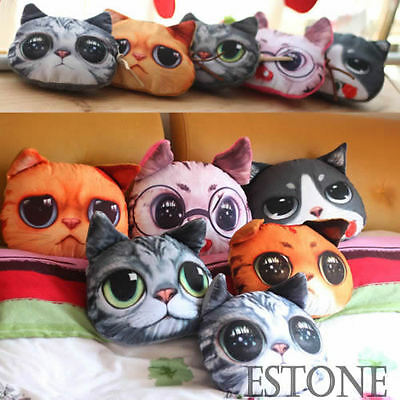 Girls Cute Cat Animal Bag Zip Coin Change Purse Polyester Cartoon Face Wallet