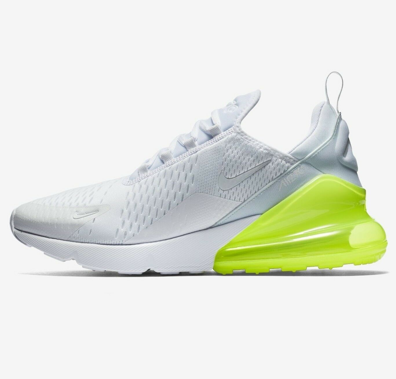 Mens Nike AIR MAX 270 Running shoes -White Volt -AH8050 104 -Sz 13 -New