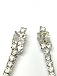 Two-Gorgeous-Rhinestone-Hair-Pin-Barrettes-Vintage-Jewelry-Bride-Wedding-Bridal