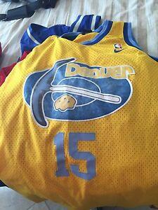17ea7fd30 Image is loading yellow-Denver-Nuggets-sewn-Carmelo-Anthony-NBA-basketball-