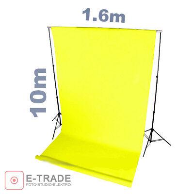 Weiß Hintergrund 1.6m x 10m Lang mit Pappröhre PROFI FOTOHINTERGRUND