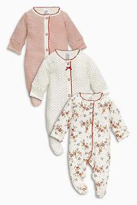 à Condition De Вnwt Prochaine Babygrows Combishort * Red Sleepsuit 3pk * 100% Coton * 1 Mois-afficher Le Titre D'origine
