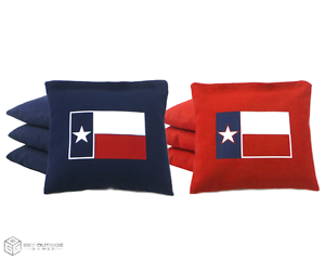 Set of 8 Texas Flag Classic Series Cornhole Bags by Get Outside Games