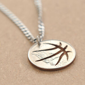 BASKETBALL-NECKLACE-HAND-CUT-COIN-MADE-FROM-QUARTER-NECKLACE-SPORT-NECKLACE