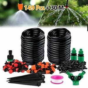 Xddias-30-30m-Garden-System-DIY-Micro-Kit-1-4-034-Hose-Greenhouse-Sprinkler-Drip