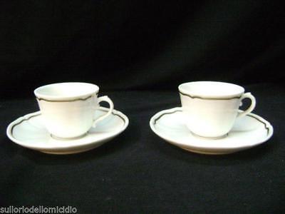 Messing Special Section Paar Kaffeetassen Caffe' Jahrgang Richard Ginori Neu Jahrgang Modernes Design Exquisite Craftsmanship; Gefertigt Nach 1945