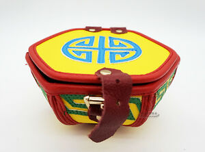 Tibet Collection Colorful Hexagon Bowl Cover Leather Jewellery Box Hand Made