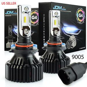 JDM ASTAR 2x 9005 HB3 LED Headlight Bulb Kit High Beam 6500K 10000LM White Light
