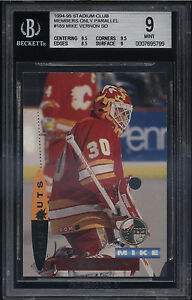 1994-95-Stadium-Club-Members-Only-Mike-Vernon-Mint-BGS-9-Subs-9-5-Calgary-Flames