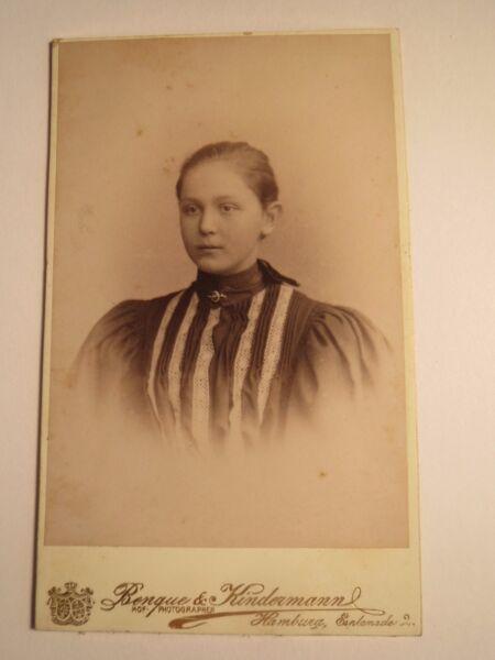 Audacieux Hambourg-fille-jeune Femme-portrait/cdv
