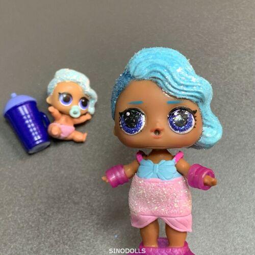 2x Baby Kids Doll Glitter Splash Queen doll /& Lil Sister Sparkle Series toys