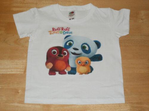Ruff-Ruff Tweet And Dave Childrens T-Shirt Sizes 1-11 Yrs