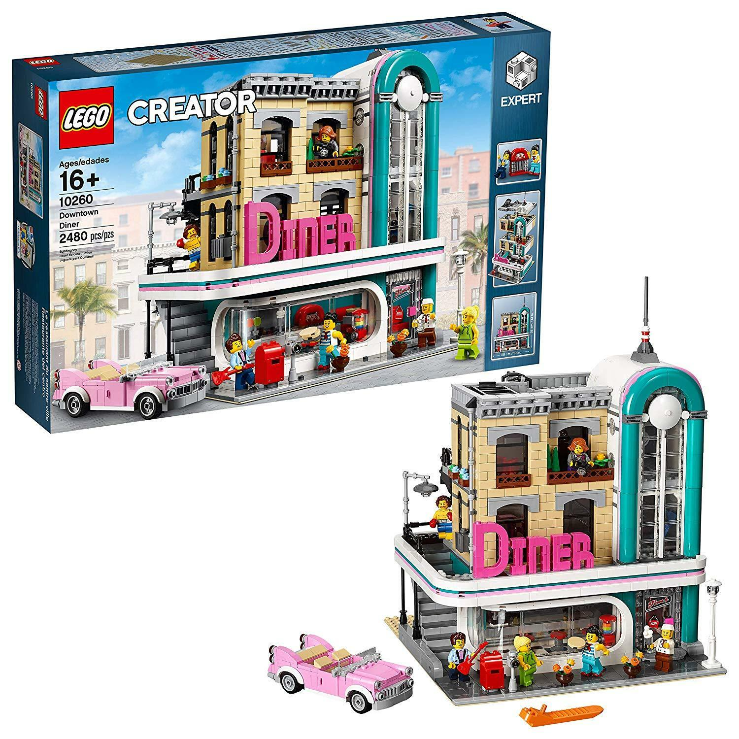 LEGO Creator Expert Downtown Diner 10260 Building Kit, Model Set and Assembly To