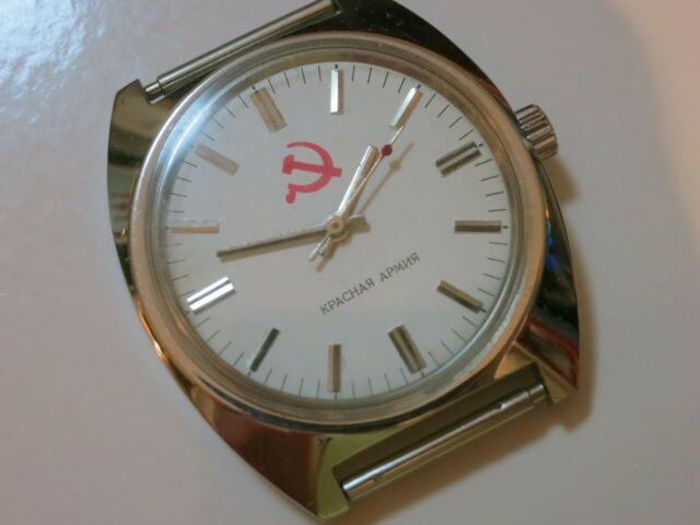 New ! Vintage White Russian CCCP Military Manual Wind 17 jewels Watch