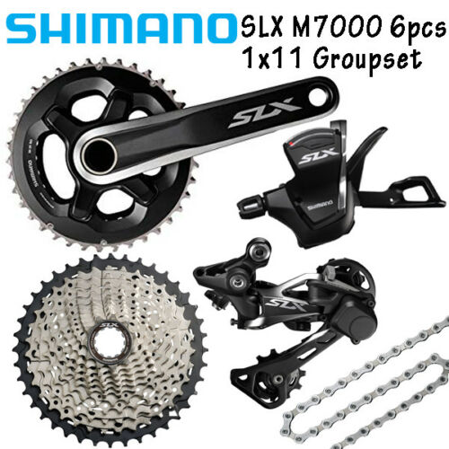 Shimano SLX M7000 1x11 Spd Groupset 6pcs 11-40T//42T//46T Crank 170//175 MTB