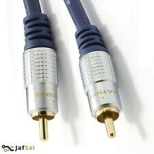 5m Puro HQ Ofc Blindado Cable De Subwoofer Oro 5M metro UK