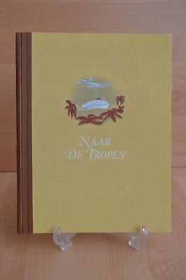 #Old Trade Card Book#1929 Scrapbook Dutch Indonesia Coffee Tea Cocoa Advertising