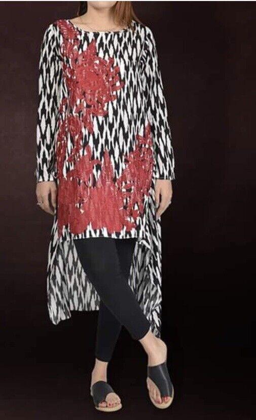 Limelight Original-Latest-Embroidered Lilen Shirt-Pakistani Wear Size Small