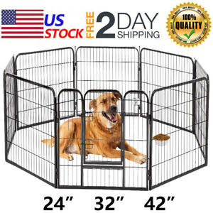 Pet-Playpen-24-034-32-034-40-039-039-8-Panel-Heavy-Duty-Pet-Cat-Puppy-Exercise-Pen-Dog-Fence