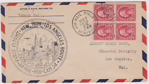 LETTRE-AERIENNE-USA-AIR-MAIL-1930-FIRST-FLIGHT-NEWARK-AIRPORT-LOSANGELES-CAM34