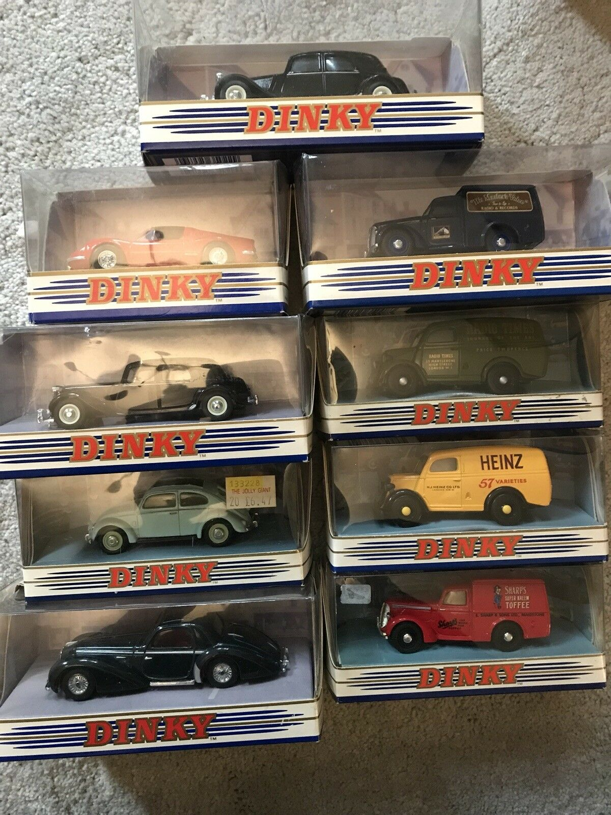 9 X MATCHBOX DINKY COLLECTION CITROEN FERRARI DELAHAYE FORD COMMER