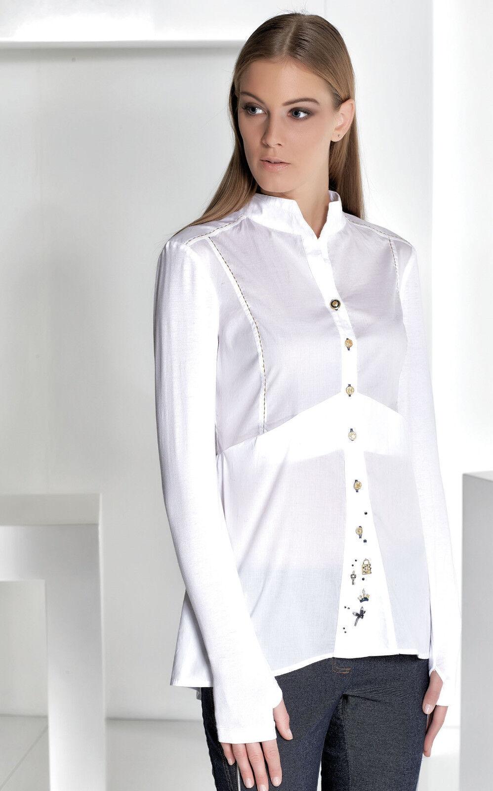 Elisa Cavaletti azulsa blouse tunic Bianco talla S (36)   invierno 2016   compras de moda online