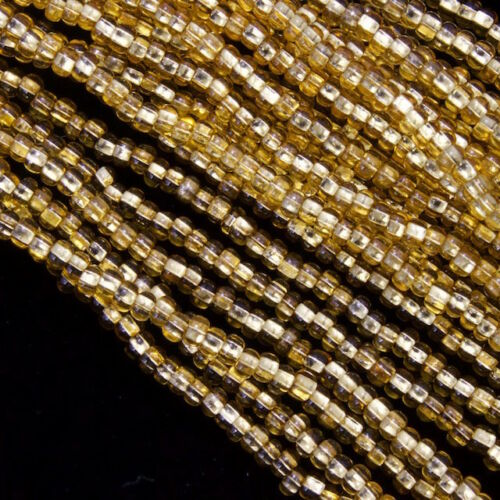 10 Gm, Hank #CSG140 11//0 Silver Lined Light Gold Czech Seed Bead