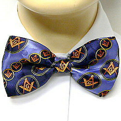Navy Blue Polyester long tie slanted lines Masonic pattern Masonic Neck Tie
