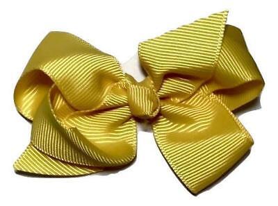 "Light royal blue 3.3/"" butterfly boutique grosgrain bow DIY hair bows"