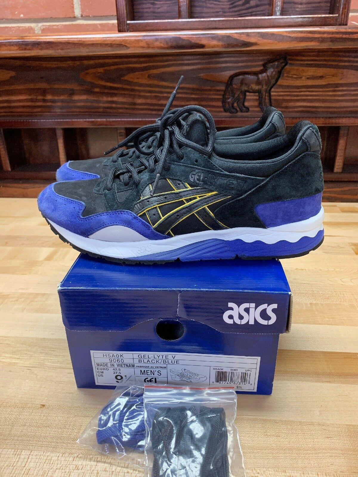 Asics Gel-Lyte V Splash City Negro Azul Talla 9.5