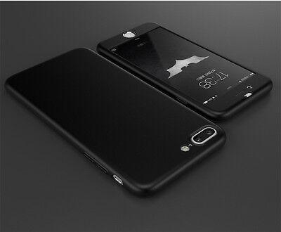 New Hybrid 360° Shockproof Slim Hard case Cover & Tempered Glass for Samsung