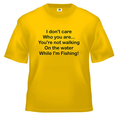 Funny While I'm Fishing Religious T Shirt 100% Cotton All Sizes And Colours