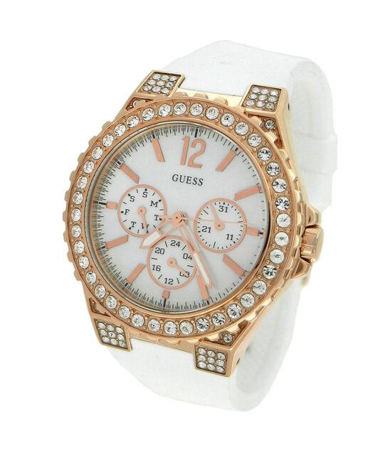 9e94e21dcc8f GUESS Watch Women s White Silicone Strap 40mm U16529L1 for sale ...