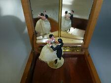 VINTAGE REUGE COUPLE DANCING BALLERINA MUSIC JEWELRY BOX ( WATCH VIDEO )