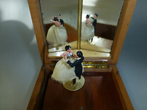 Image Is Loading VINTAGE REUGE COUPLE DANCING BALLERINA MUSIC JEWELRY BOX