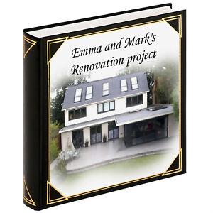Personalizado Grande Álbum De Fotos Scrapbook álbum Casa Renovación construir álbum