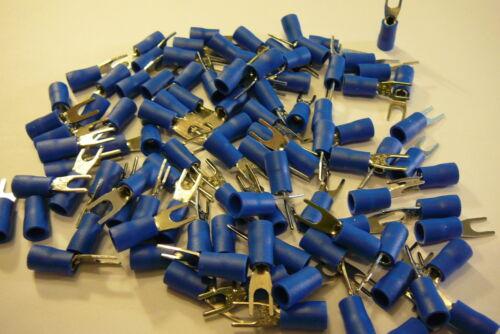 pour boulon vis ou 3 mm 3.2 Fourche Bleu terminal crimp connector 25 50 100 pack