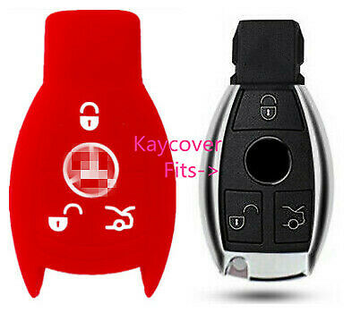 RED  CAR SMART KEY COVER for MERCEDES BENZ A B C E R S ML GL SLK CLASS