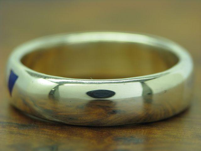 925 STERLING silver RING MIT LAPISLblueI BESATZ   ECHTsilver   RG 56,5   5,2g