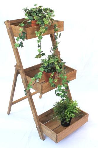 Kräuterregal Fiora-1 aus Holz 90 cm Blumentreppe Pflanzentreppe Blumenständer