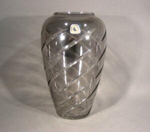 Alfred-Dove-VOHENSTRAUSS-Honed-Vintage-Crystal-Vase-H-20cm