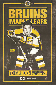 Boston-Bruins-lineup-poster-11-x-17-MILT-SCHMIDT-NIGHT-SIGNED-AUTOGRAPHED-COA