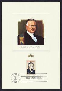 #2219c 22c Herbert C Hoover, Fleetwood Proofcard Cualquier 5=