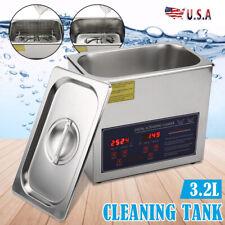 32l 100w Digital Ultrasonic Cleaning Tank Ultra Sonic Bath Cleaner Timer Heated