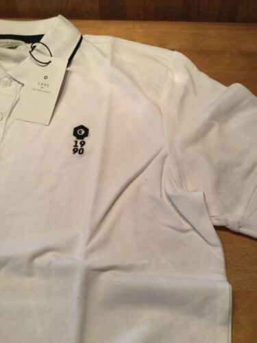 white and Navy Jack and Jones Regular fit Polo shirt with stretch