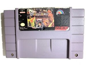 WWF-Super-Wrestlemania-WWE-SNES-Nintendo-Game-Tested-amp-Working