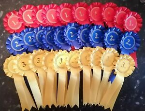10-sets-of-1st-3rd-30-Rosettes-Dog-Horse-Show-Event-FREE-POSTAGE